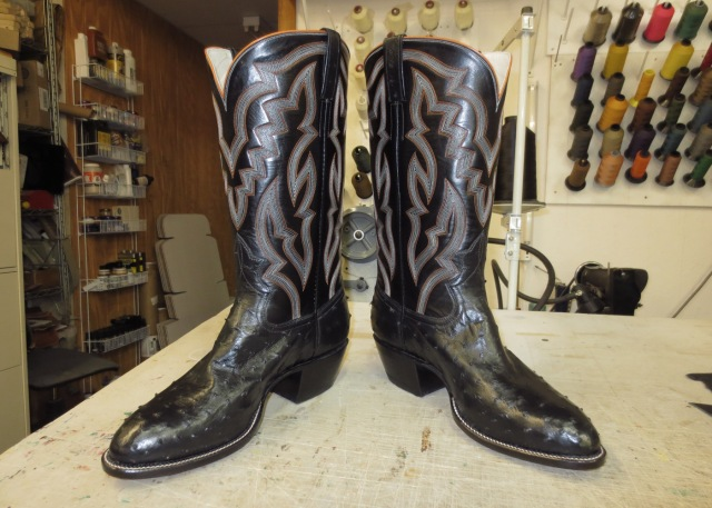 Completed boots