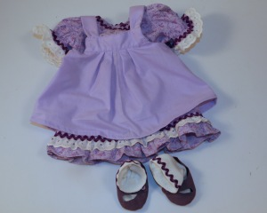 Lavender dress and shoes