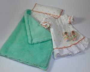 Sleeping bag, gown, booties