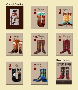 Cowboy boot playing cards