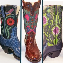 Womens boots with lines
